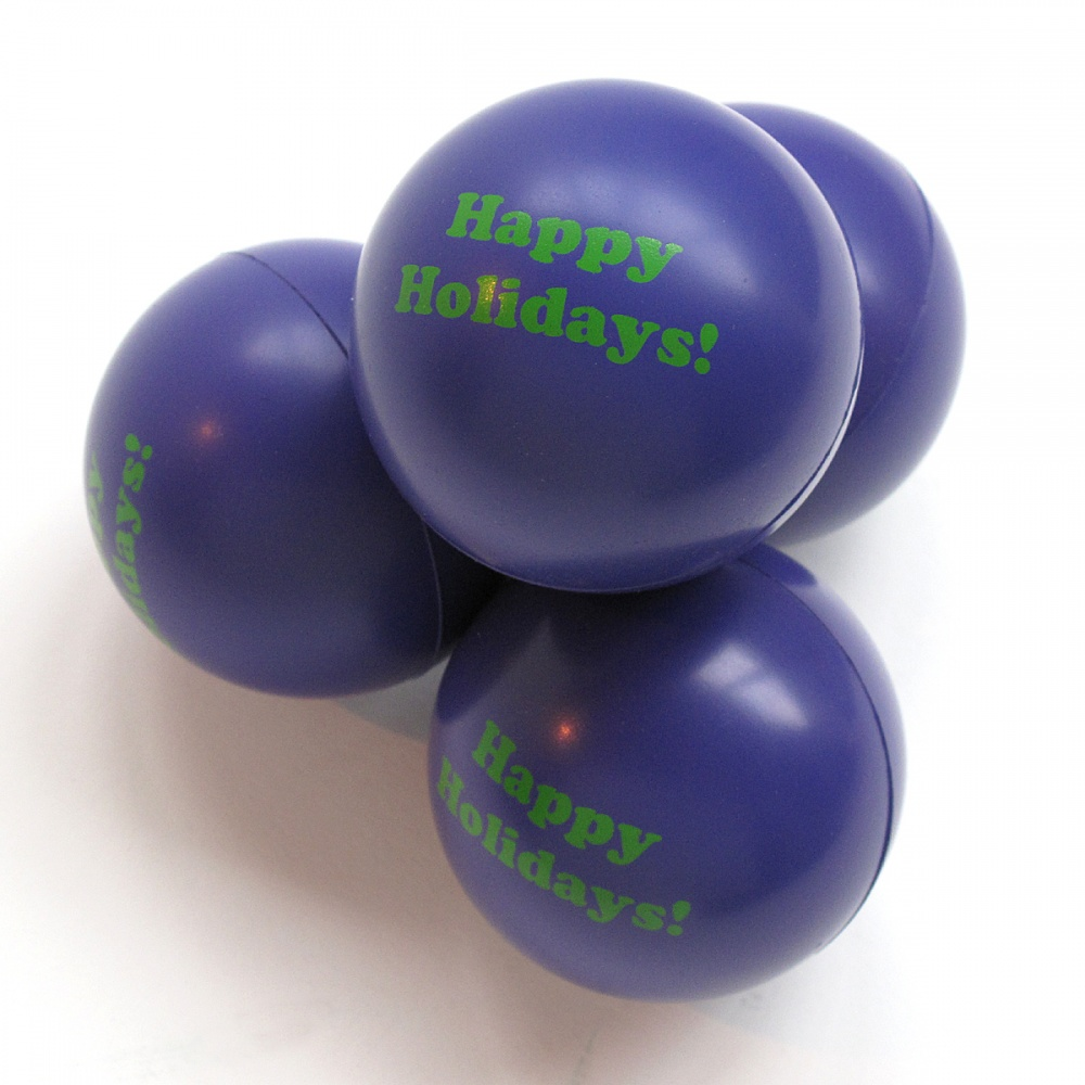 Happy Holidays stress ball