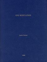Janice Gurney: One Meditation - Gurney,Janice