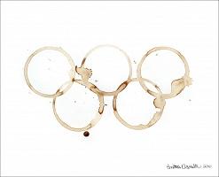 Anitra Hamilton: Olympic Rings (coffee) - Hamilton,Anitra