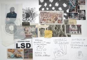 Paul Kneale: Studio wall time-capsule (II) 2008/2009