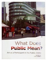 What Does Public Mean? Art as a Participant in the Public Arena