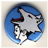 Daryl Vocat: Wolf Head button