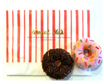 Donut Ho's Brooch - Vanilla-Chocolate Dip - Fancy