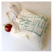 Ginger Brooks Takahashi: Live and Let Lez tote bag (natural)