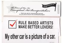 The Future of Idea Art: Conceptual Art Bumperstickers