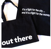 "Philip Monk: ""out there"" Tote Bag"