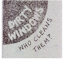 Lise Melhorn-Boe: Dirty Windows: Who Cleans Them?