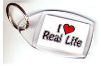 I Love Real Life Key Ring