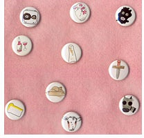 Hidden Cameras : Hand-Painted Buttons