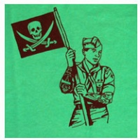 Daryl Vocat: Take part in a world of brotherhood (Skull flag) -T-Shirt