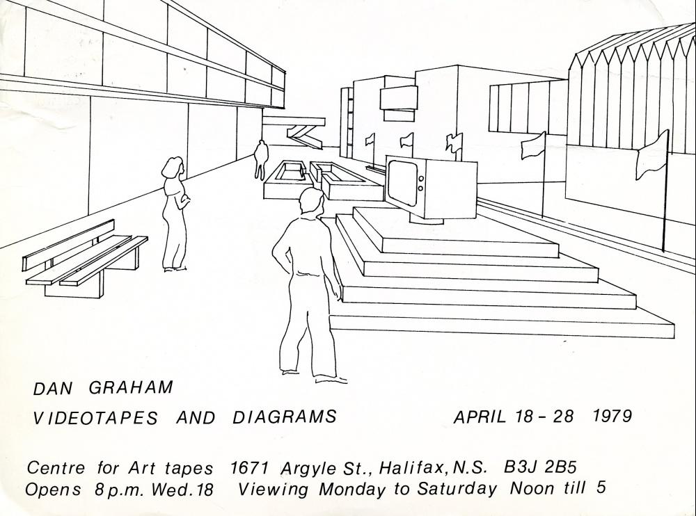 """Dan Graham """"Videotapes and Diagrams"""", April 18 - 28, 1979, Centr"""