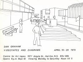 "Dan Graham ""Videotapes and Diagrams"", April 18 - 28, 1979, Centre for Art Tapes, Halifax, exhibitionpostcard"