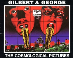"Gilbert & George ""The Cosmological Pictures"", Palac Sztuki, Krakow, Poland, 1991 exhibition postcard"