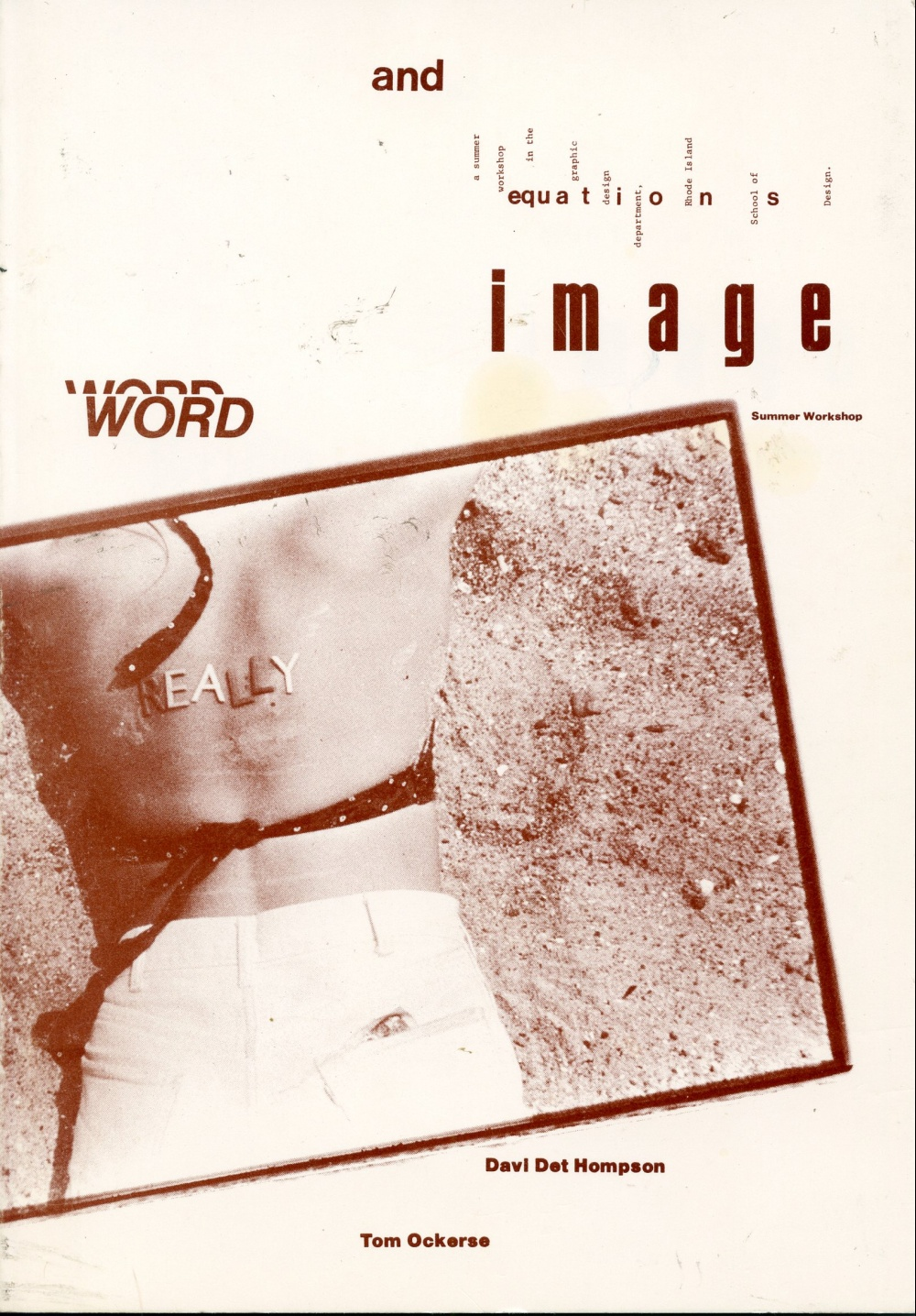 Word and Image Equations: a Summer Workshop in the Graphic Desig