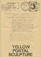 Robin Klassnik Yellow Postal SculptureEnvelope
