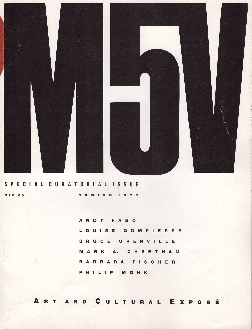 M5V Special Curatorial Issue 1992