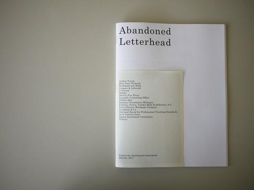 Center for Abandoned Letterhead Catalogue