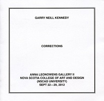 Garry Neill Kennedy: Corrections (exhibition pamphlet)