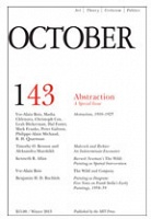 October 143- Abstraction: A Special Issue