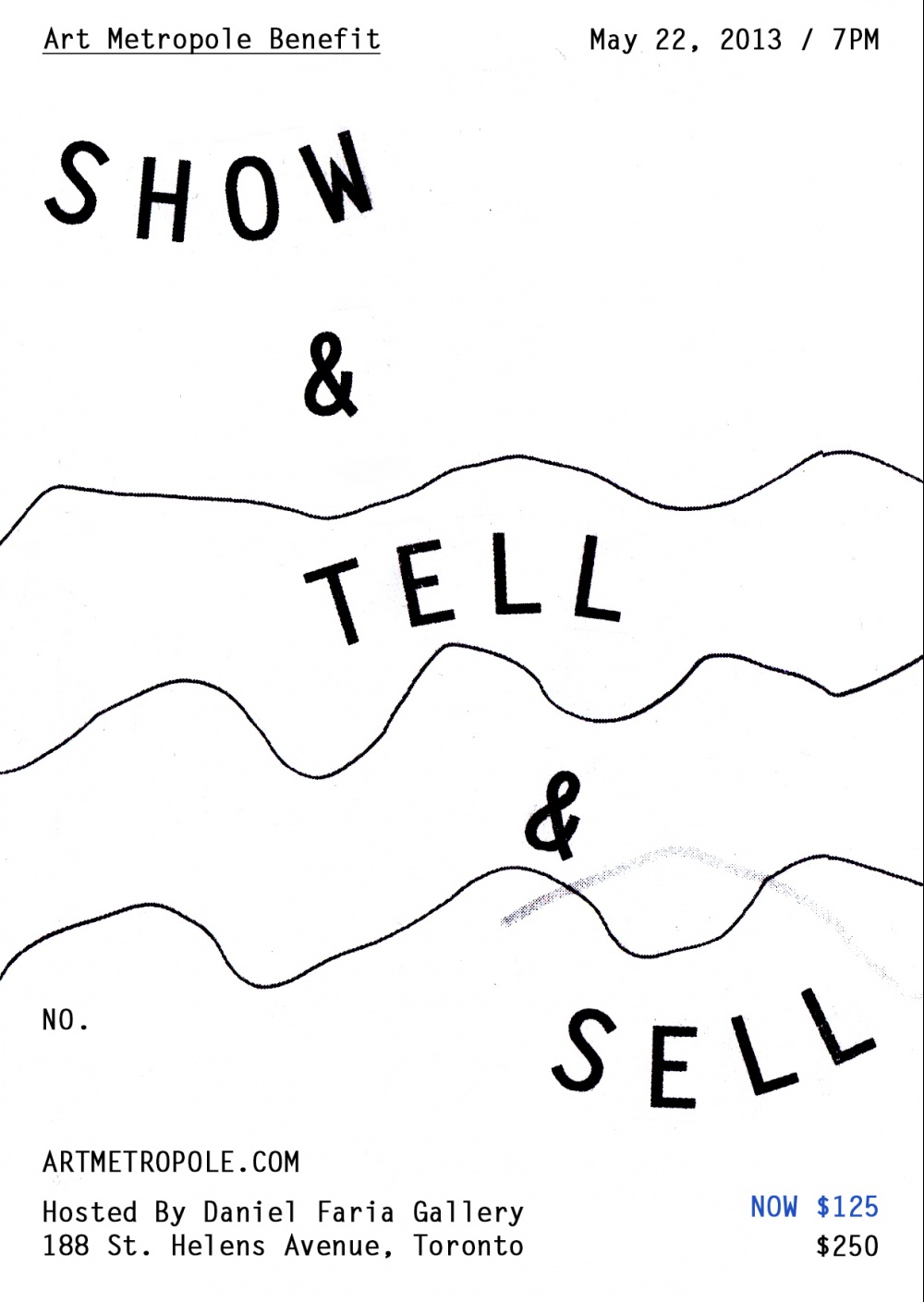 Show & Tell & Sell Benefit Ticket (SPECIAL LIMITED OFFER FOR MEM
