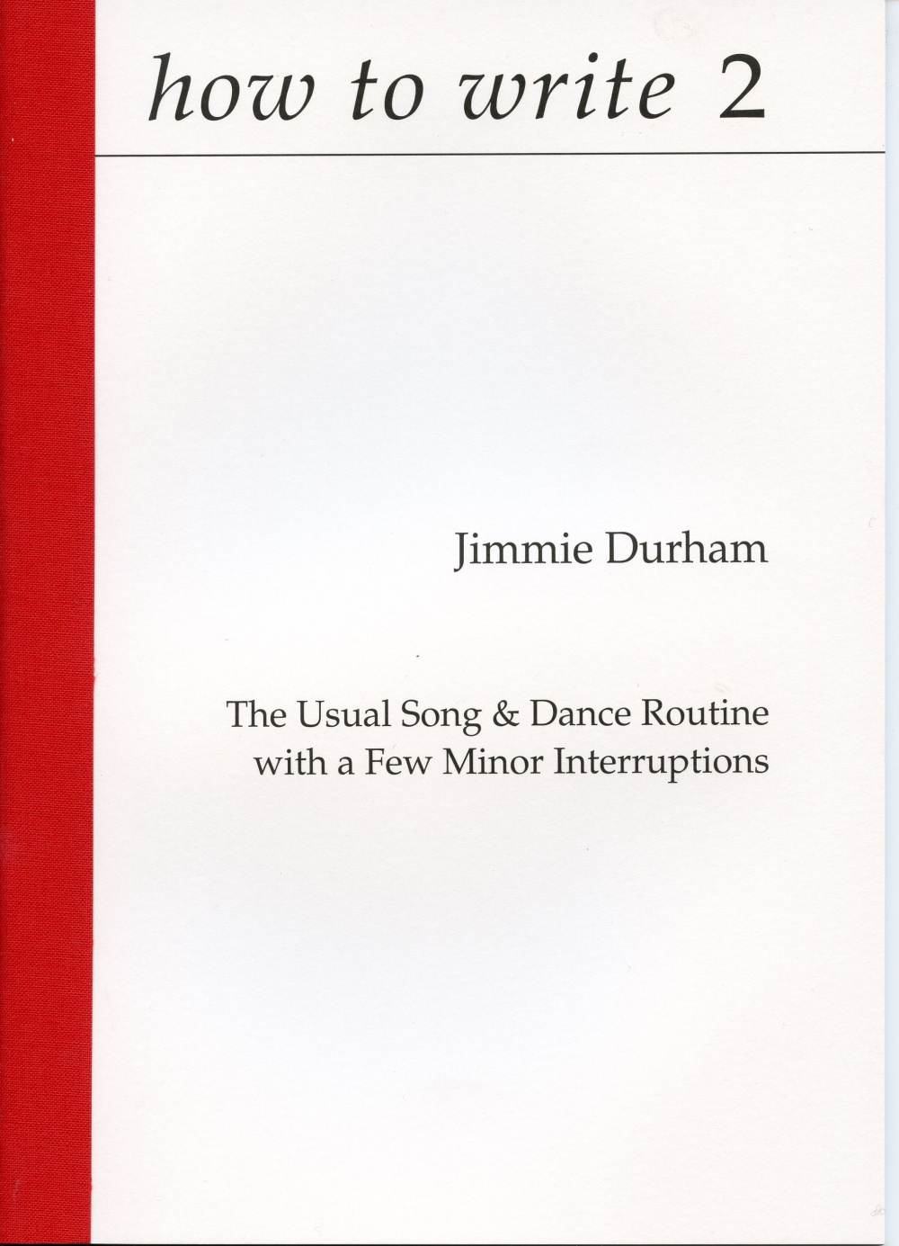 how to write 2   Jimmie Durham, The Usual Song & Dance Routine w