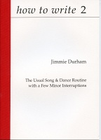 how to write 2: Jimmie Durham, The Usual Song & Dance Routine with a Few Minor Interruptions.