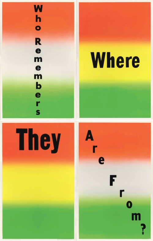 Poster Remainders: Who Remembers Where They Are From?, 2012