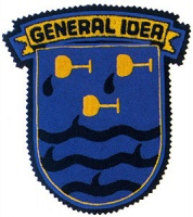 Down the Drink, 1988/2010. General Idea Crest