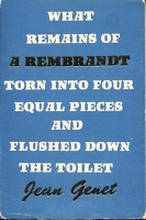 What Remains of A Rembrandt Torn Into Four Equal Pieces and Flushed Down The Toilet