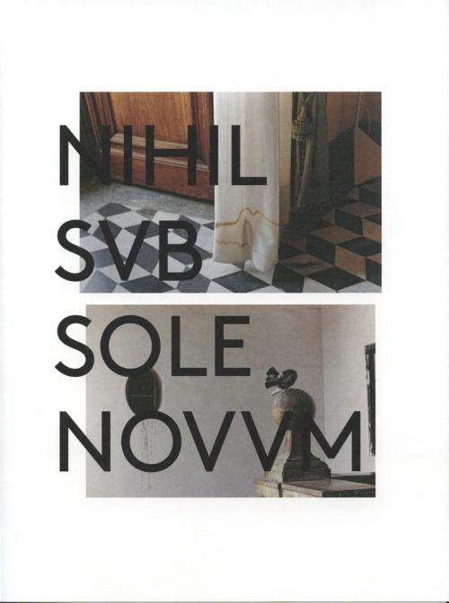 NIHIL SVB SOLE NOVVM