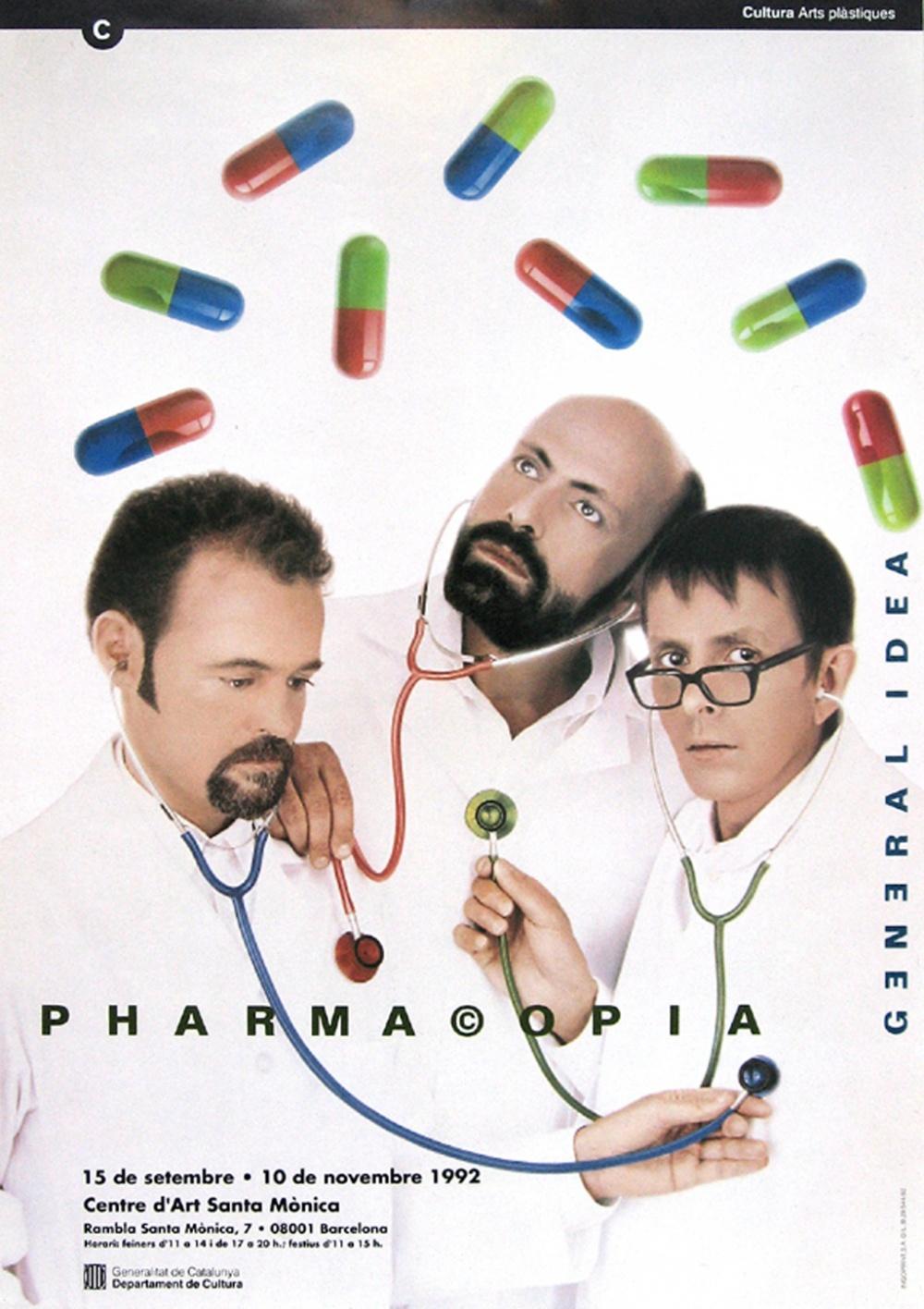 General Idea Pharma©opia (Barcelona) exhibition poster