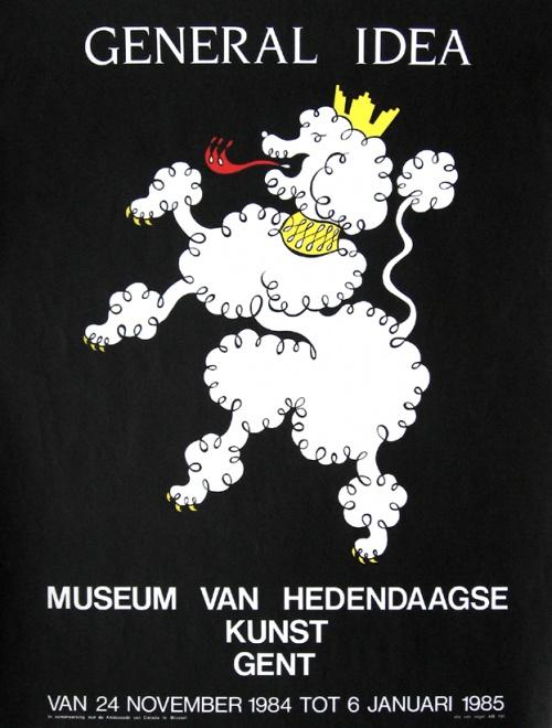 General Idea (Ghent Poodle) exhibition poster