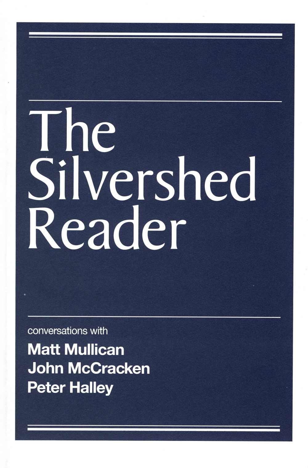 The Silvershed Reader