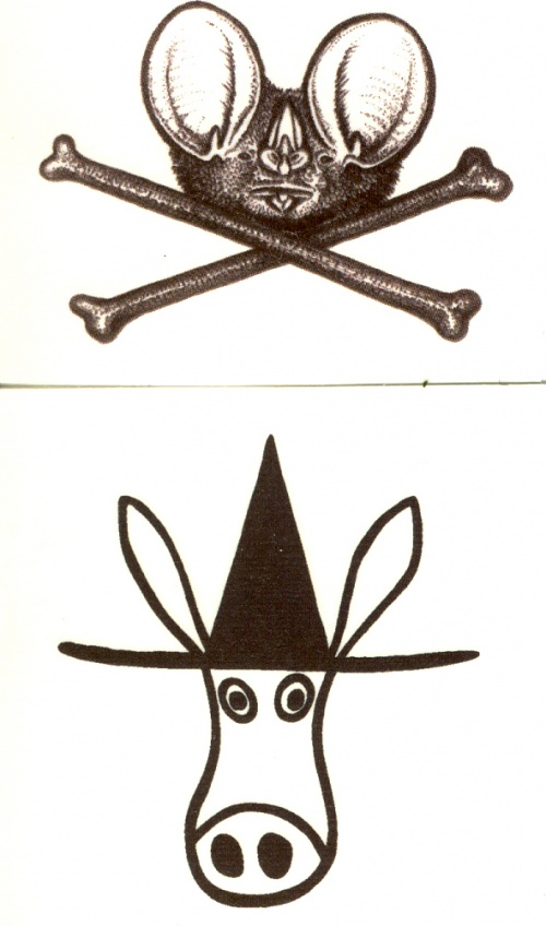 Temporary Tattoos: El Kabong or Batface & Crossbones