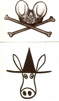 Fastwurms: Temporary Tattoos: El Kabong or Batface & Crossbones